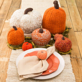 Loom Knit Pumpkin Patch