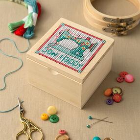 Cross Stitch Sewing Box