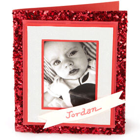 Heart-Glittered Photo Card