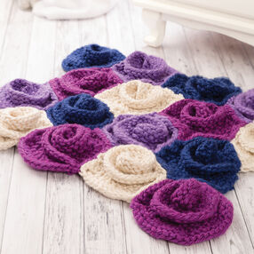 Knitted Flower Rug