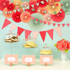 Medallions and Garlands Party Decor