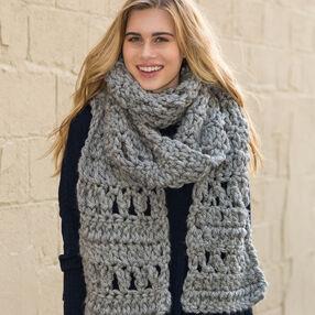 Foggy Crochet Scarf