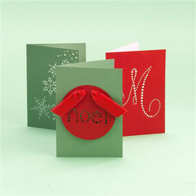 Screw-Punched Holiday Cards