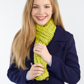 Mock Cable Knit Scarf
