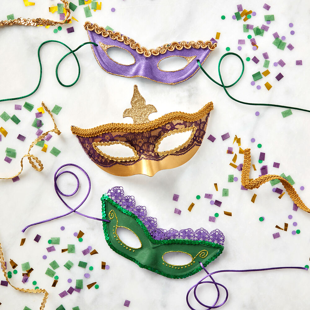 mardi gras fancy trim masks simplicity