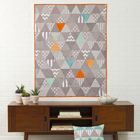 60-Degree Triangle Lap Quilt