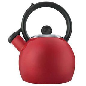 Copco Vienna 1-1/2-Quart Enamel on Steel Tea Kettle, Red