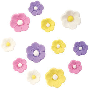 Pre-made Royal Icing Spring Flowers