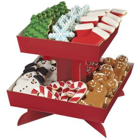 Red Treat Stand Tray