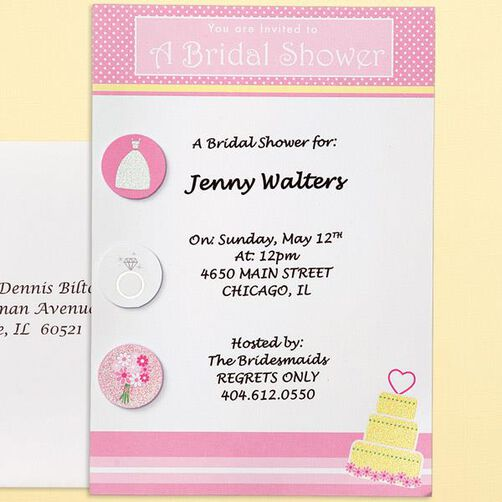 Bridal Shower Fun Invitation