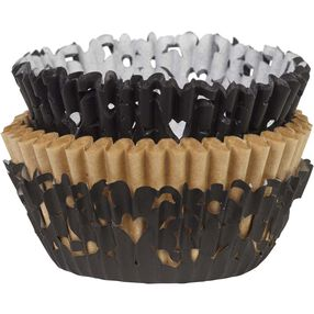 Black Simple Elegance Cupcake Liners & Wraps