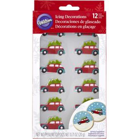 Wilton Car with Christmas Tree Candy Decorations