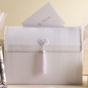 White Cardholder Keepsake