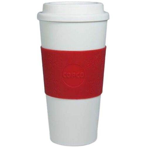 Wilton Copco Red Holly Grip Travel Tumbler