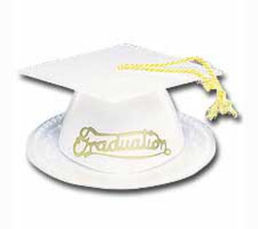 White Graduation Caps Topper Set