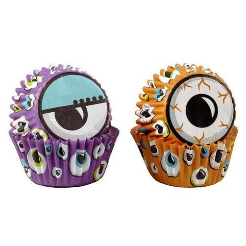 Halloween Eyeball Mini Cupcake Liners