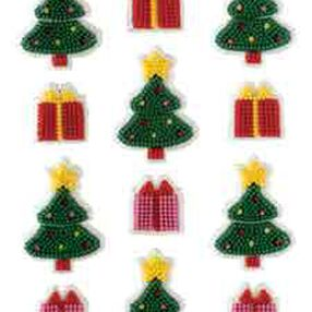 Petite Twinkling Trees Icing Decorations