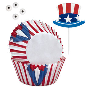 Uncle Sam Cupcake Combo Kit