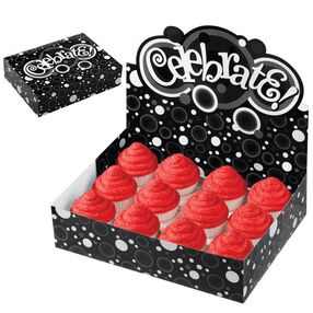 Celebrate Black & White Cupcake Display Box