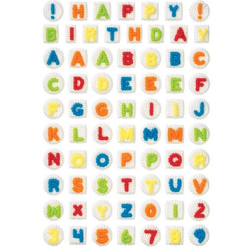 Alphabet/Numerals Icing Decorations