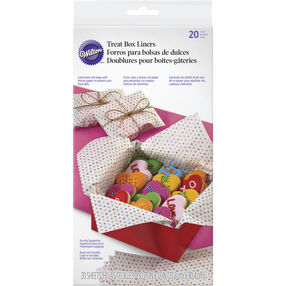 Wilton Polka Dot Treat Box Liners, 20-Count