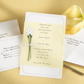 Calla Lily Bouquet Wedding Invitation Kit