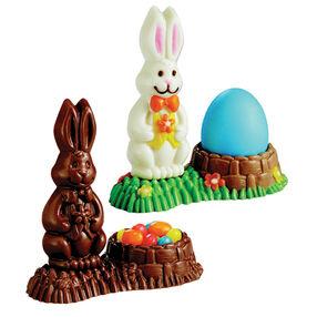 3-D Bunny Basket Candy Mold