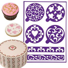 Wilton Hearts Stick-N-Stay Stencils 417-5158