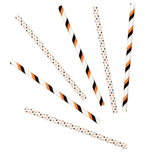 Orange/Black Colored Lollipop Sticks