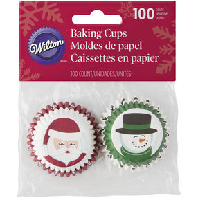 Santa and Snowman Mini Baking Cups