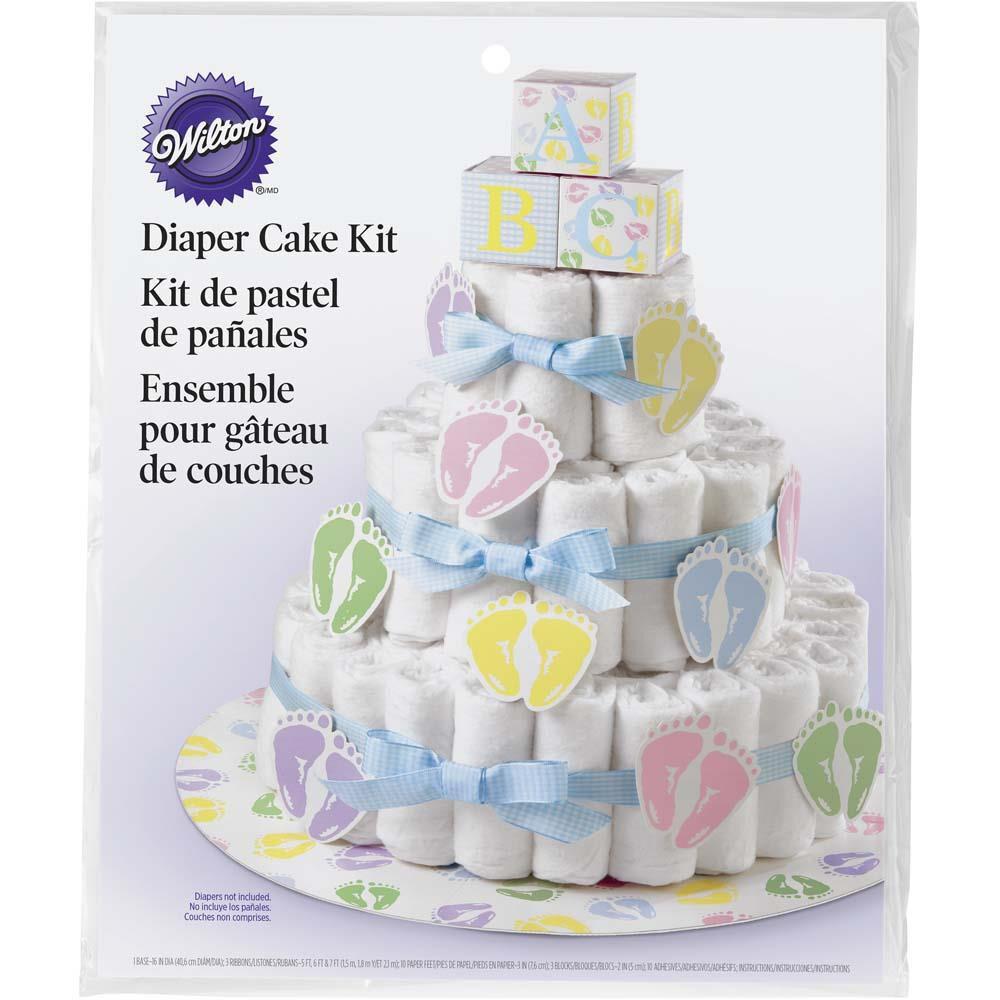 Wilton Cake Decorating Bag Instructions : Diaper Cake Kit Wilton