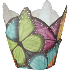 Multicolor Butterfly Specialty Pleated Cups