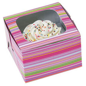 Snappy Stripes Cupcake Boxes (Holds 1)