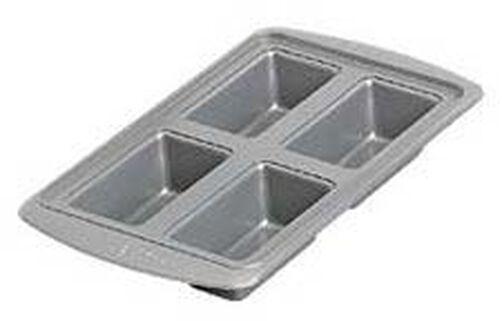 AvantiEverglide Metal-Safe Non-Stick 4 Cavity Mini Loaf Pan