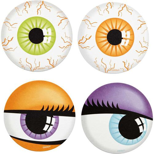 Wilton Halloween Eyeballs Party Coasters