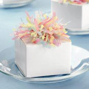 Favor Boxes with Tissue Puff