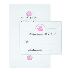 Wilton® White Flower Embossed Invitation Kit, 50 Ct.