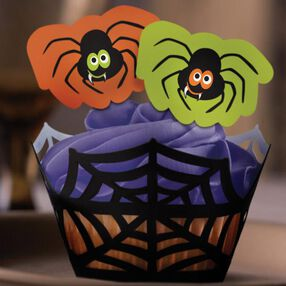 Treat Street Spider Cupcake Wraps ?n Pix