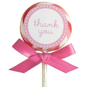 Pink Lollipop Favor Kit, 24-Count