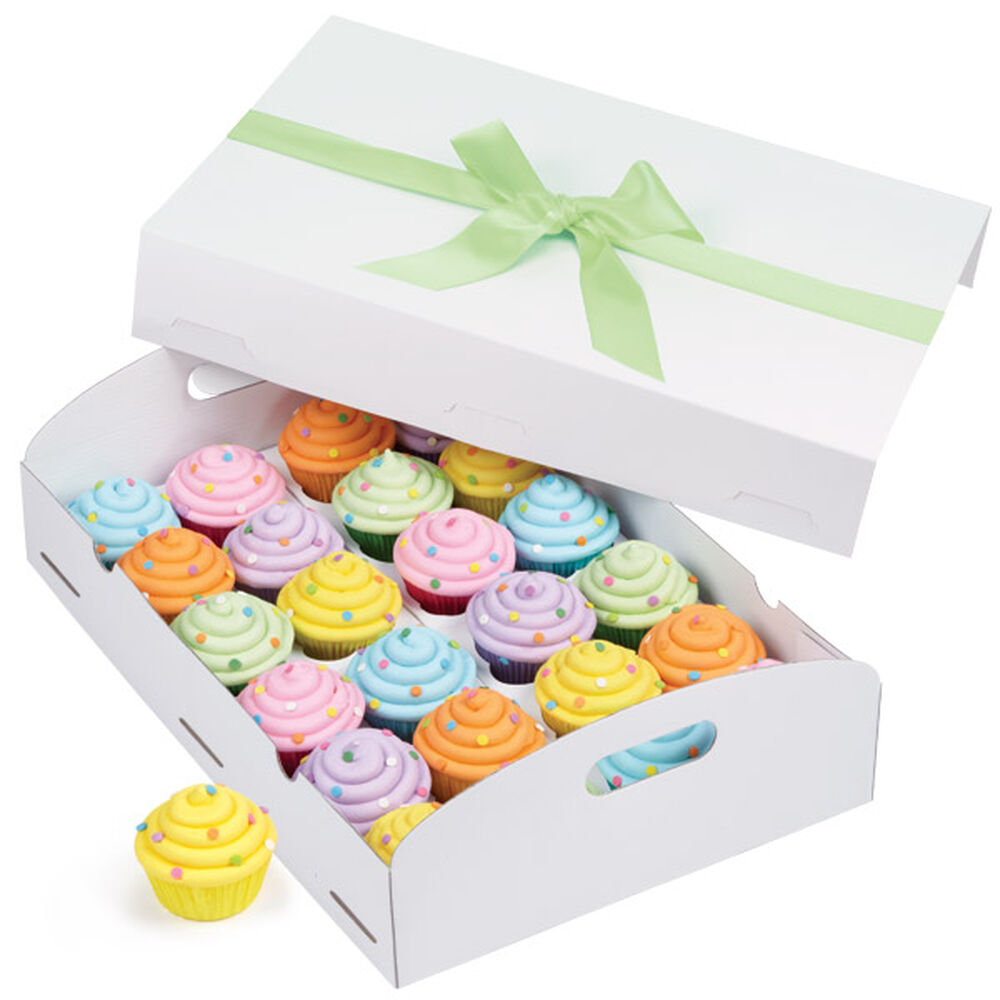 White Folding Tray Cupcake Box Wilton