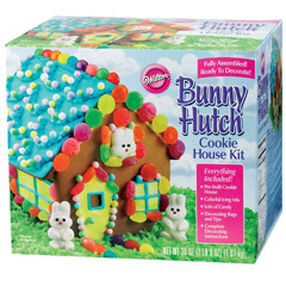 Pre-Baked and Pre-Assembled Bunny Hutch Cookie House Kit