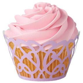 Lavender Swirls Cupcake Wraps