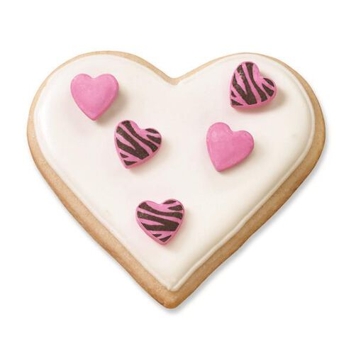 Wilton Heart-Shaped Zebra Tattoo Sprinkle