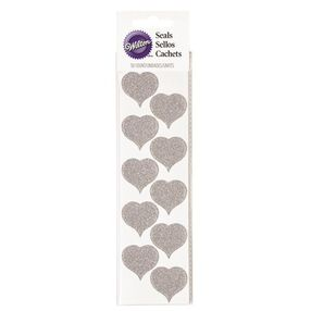 Wilton Glitter Heart Wedding Seals, 50-Ct.