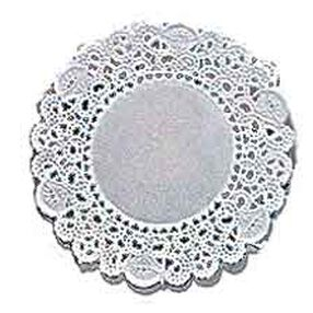 4 in. Round Grease-Proof White Doilies