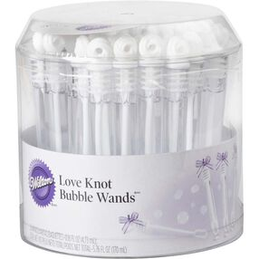 Love Knot Wedding Bubble Wands