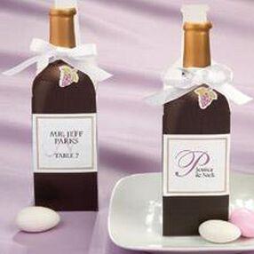 Paper Wine Bottle Favor Kit