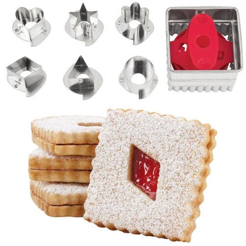 Square Linzer Cookie Cutter Set Wilton