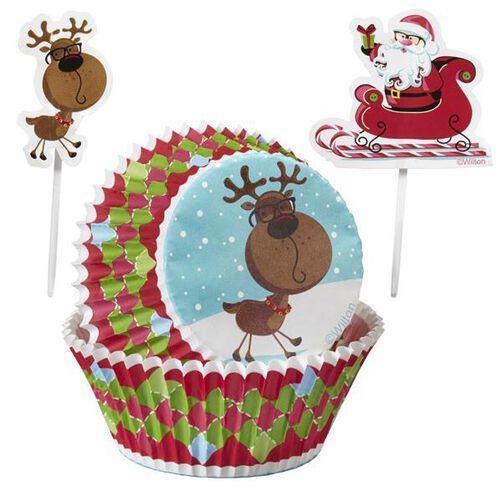 Christmas Sweet Holiday Sharing Cupcake Combo Baking Cups & Picks