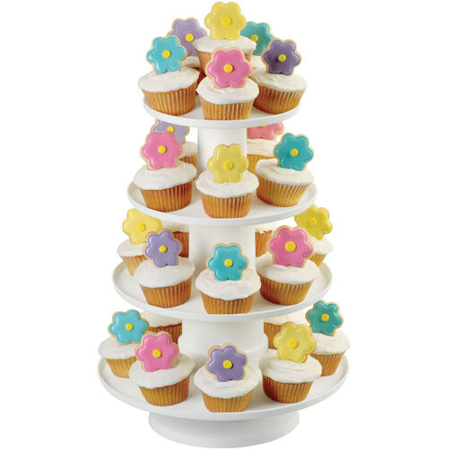 Stacked 4-Tier Cupcake and Dessert Tower | Wilton